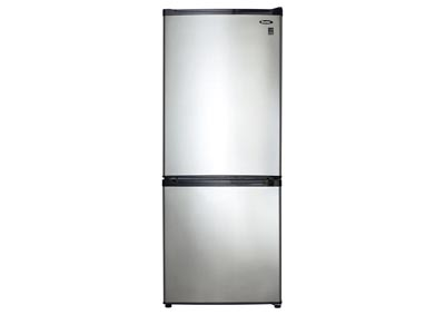 Energy Star 9.2 Cu. Ft. Refrigerator with Bottom-Mount Freezer with Spotless Steel Doors