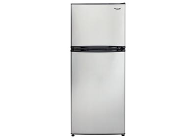 9.9 Cu. Ft. Mid-Size Frost-Free Refrigerator with Top-Mount Freezer with Spotless Steel Door
