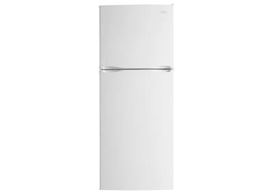 9.9 Cu. Ft. Mid-Size Frost-Free Refrigerator with Top-Mount Freezer - White