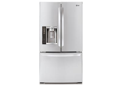 20.5 Cu. Ft. French Door Bottom Freezer Counter Depth Refrigerator in Stainless Steel