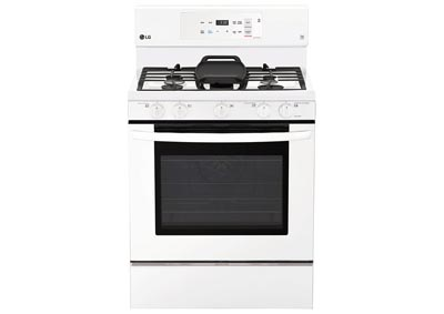30 in. Freestanding Gas Range - White