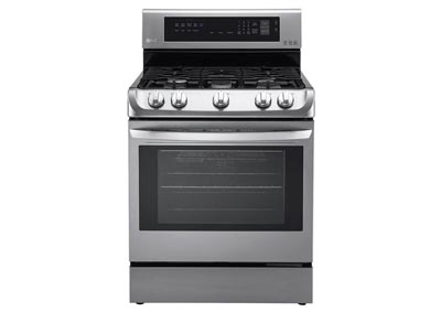 6.3 Cu. Ft. Single Oven Gas Range with Convection - Stainless Steel
