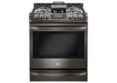 6.3 Cu. Ft. Slide-In Gas Range - Black Stainless Steel