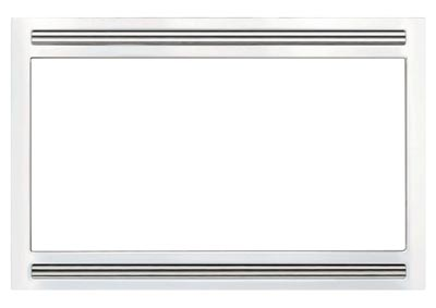 27 in. Microwave Trim Kit White