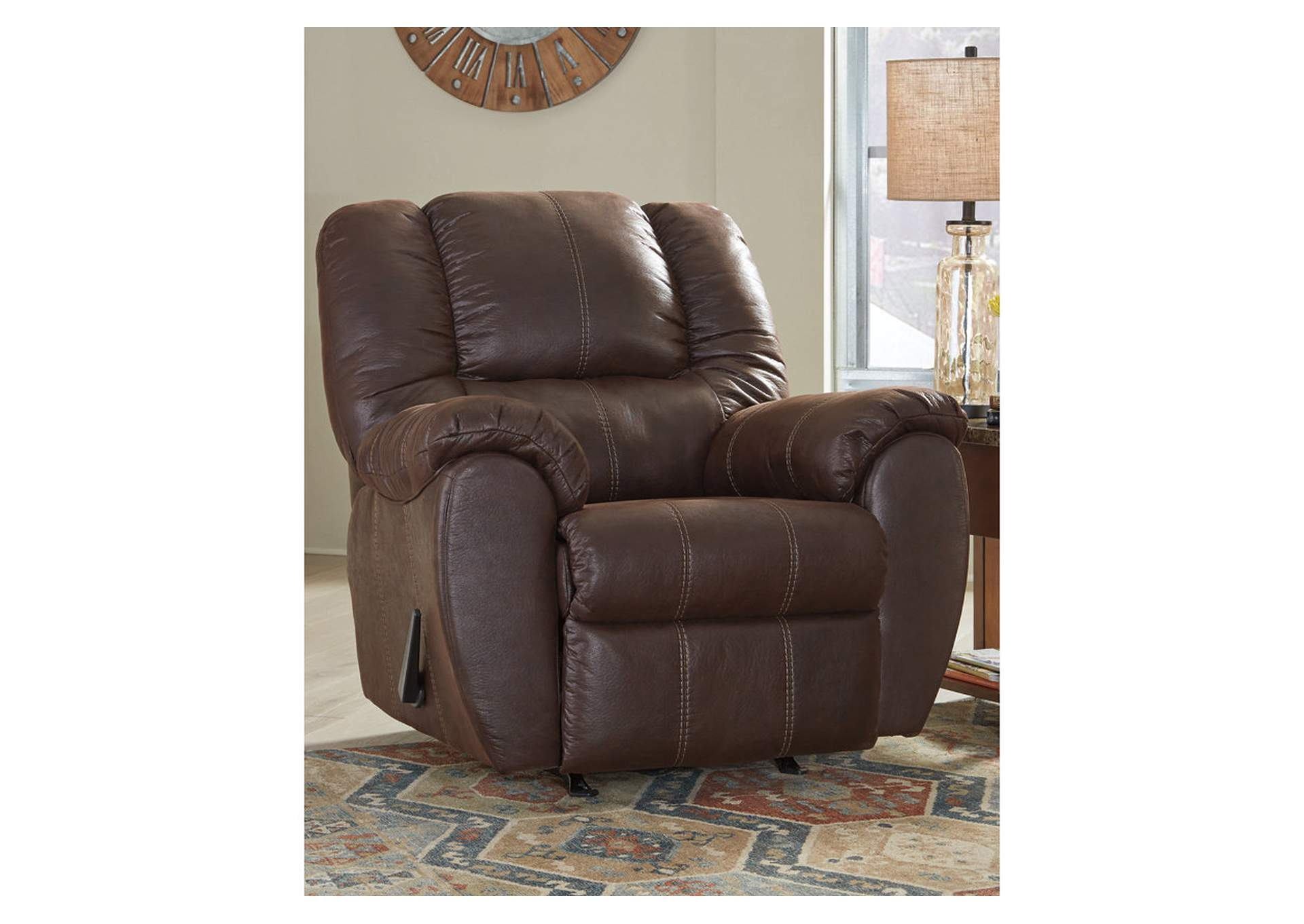 McGann Walnut Recliner,Signature Design By Ashley