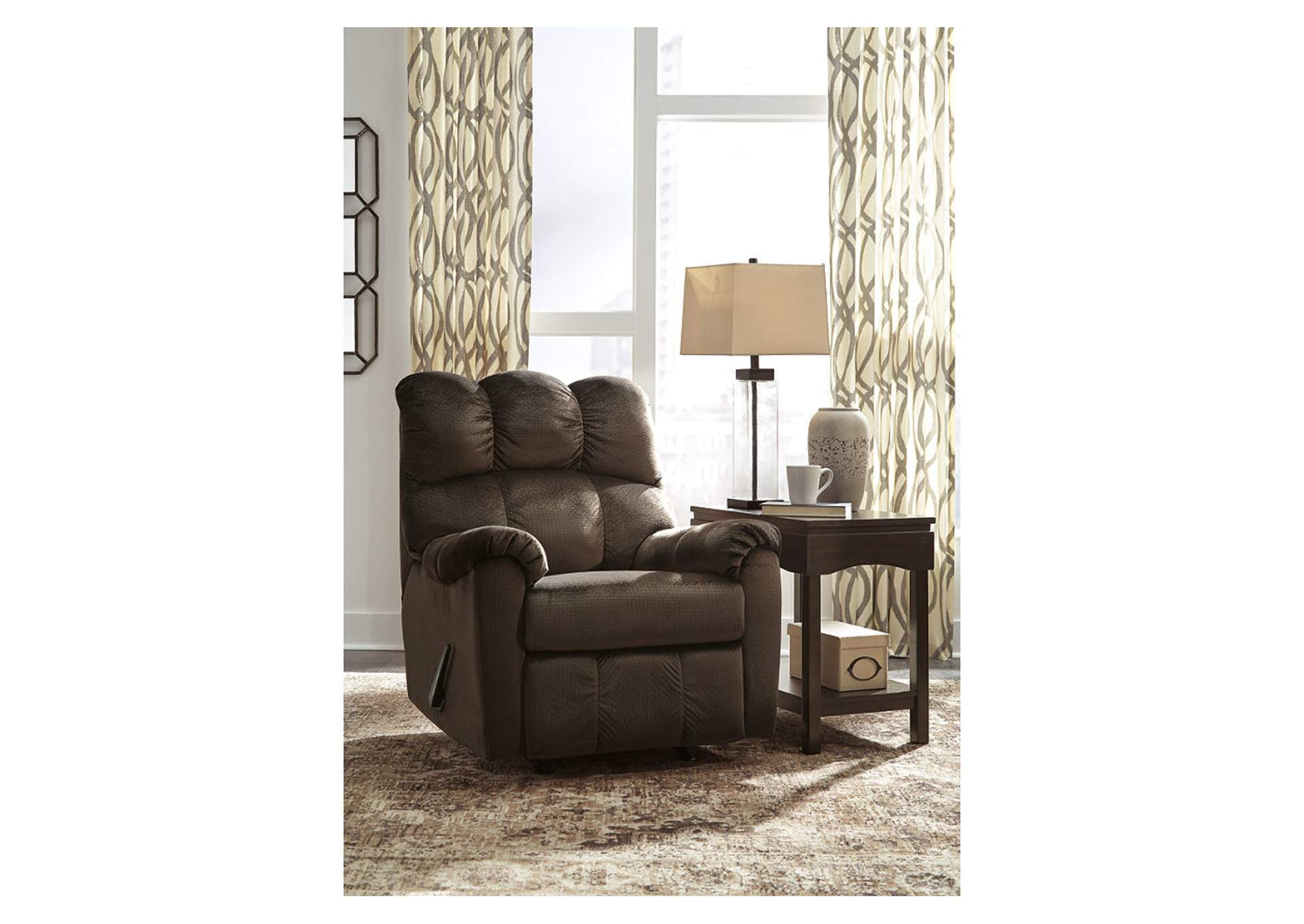 Foxfield Chocolate Rocker Recliner,Signature Design By Ashley