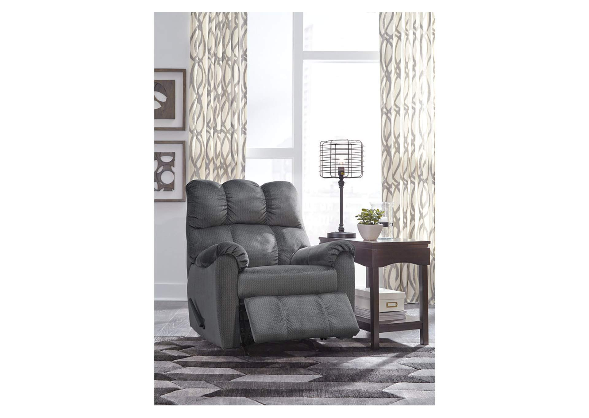 Foxfield Charcoal Rocker Recliner,Signature Design By Ashley
