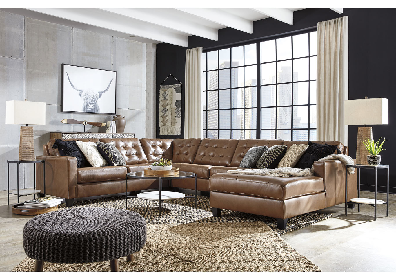 Baskove Auburn Left-Arm Facing Chaise Sectional,Signature Design By Ashley