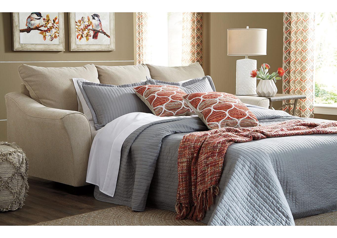 Tucker Furniture Lisle Nuvella Tawny Queen Sofa Sleeper