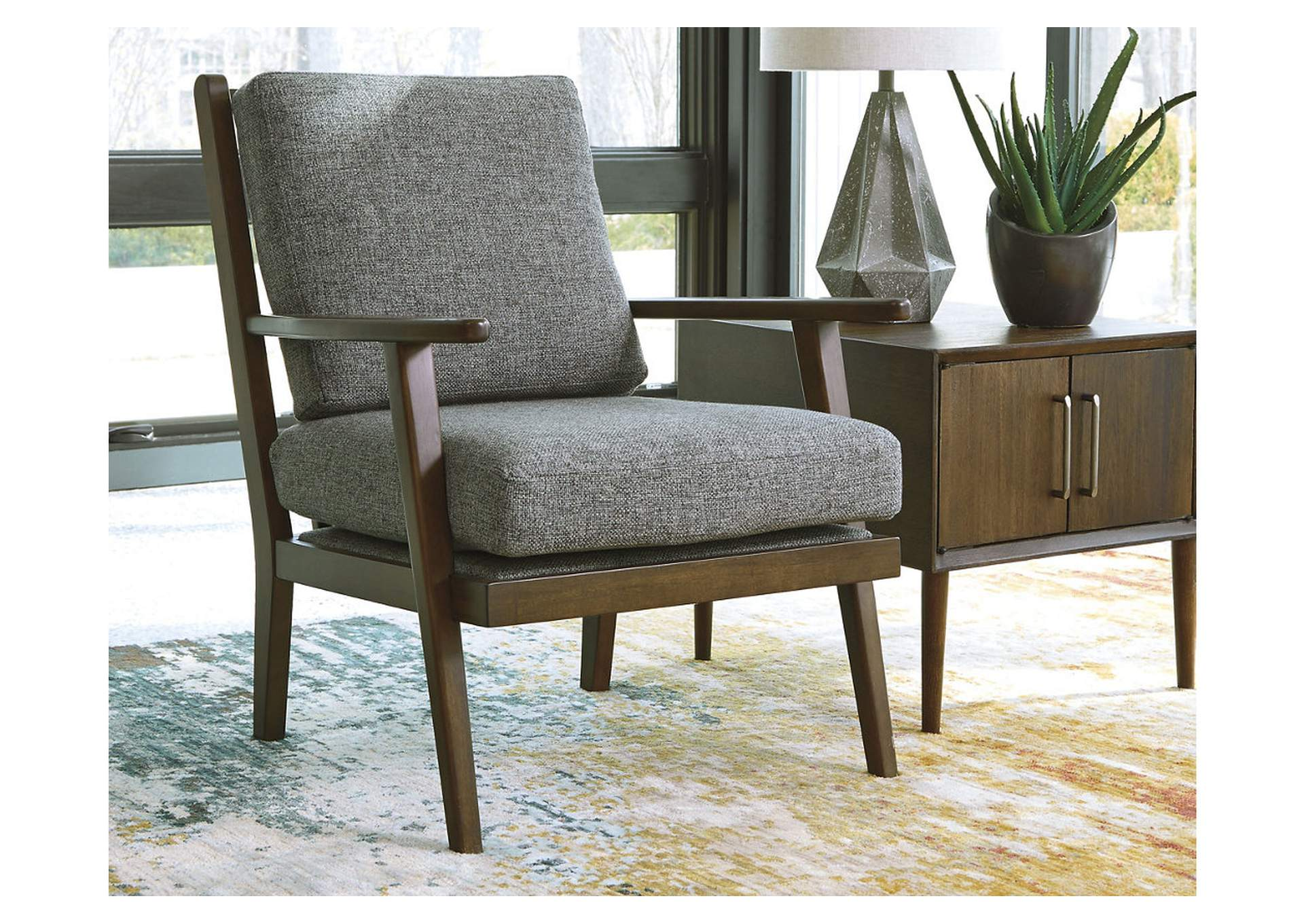Zardoni Charcoal Accent Chair,Ashley