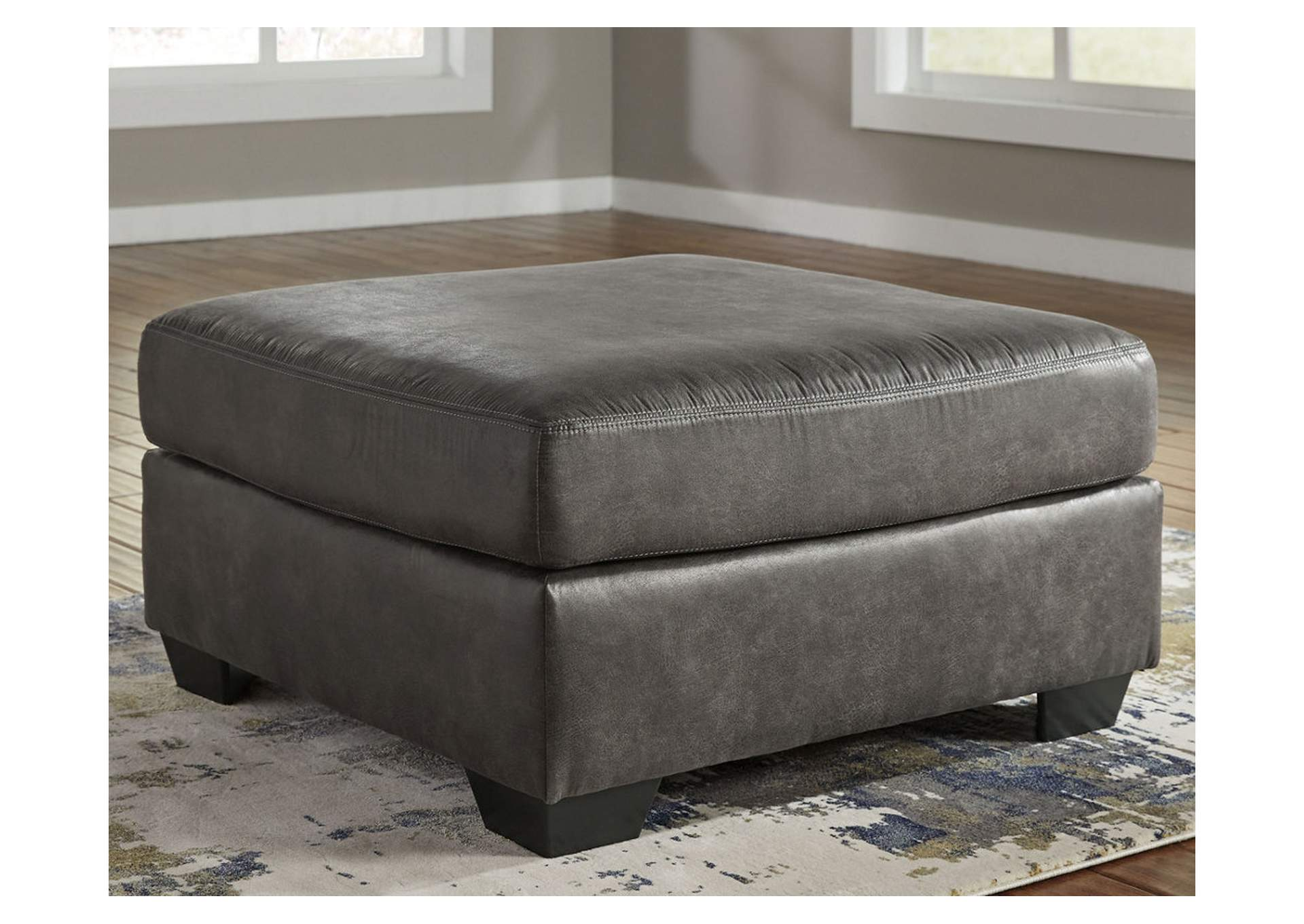 Bladen Slate Oversized Accent Ottoman,Signature Design By Ashley