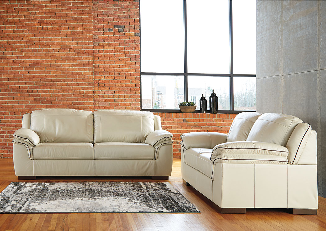 Islebrook Vanilla Sofa & Loveseat,Signature Design By Ashley