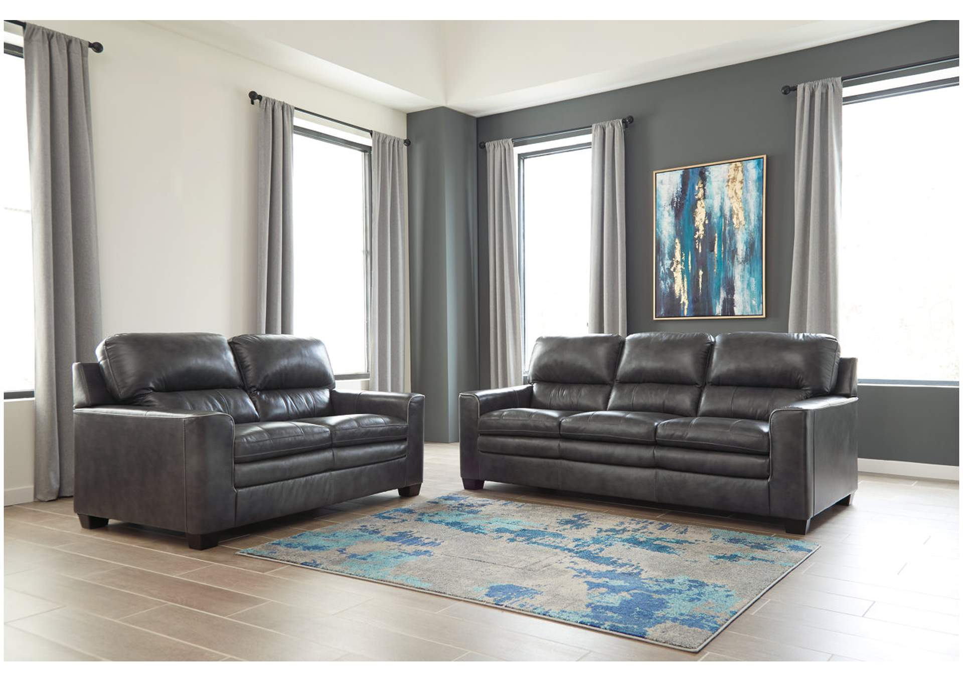 Gleason Charcoal Sofa & Loveseat,Signature Design By Ashley