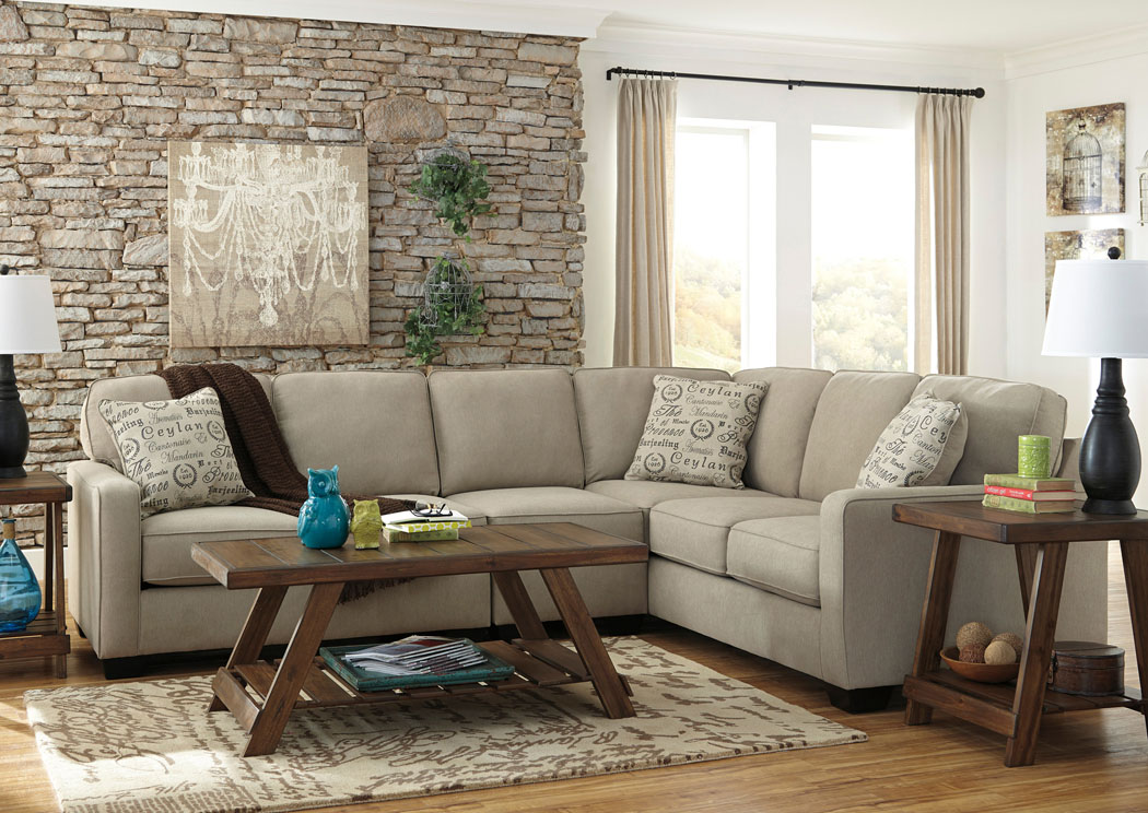 Alenya LAF Quartz Extended Sectional,Signature Design By Ashley
