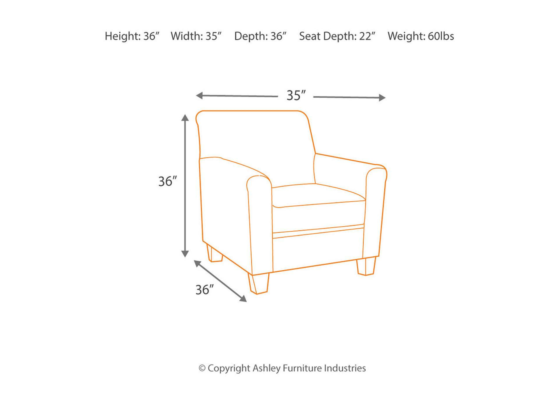 Alenya Quartz Accent Chair,Signature Design By Ashley