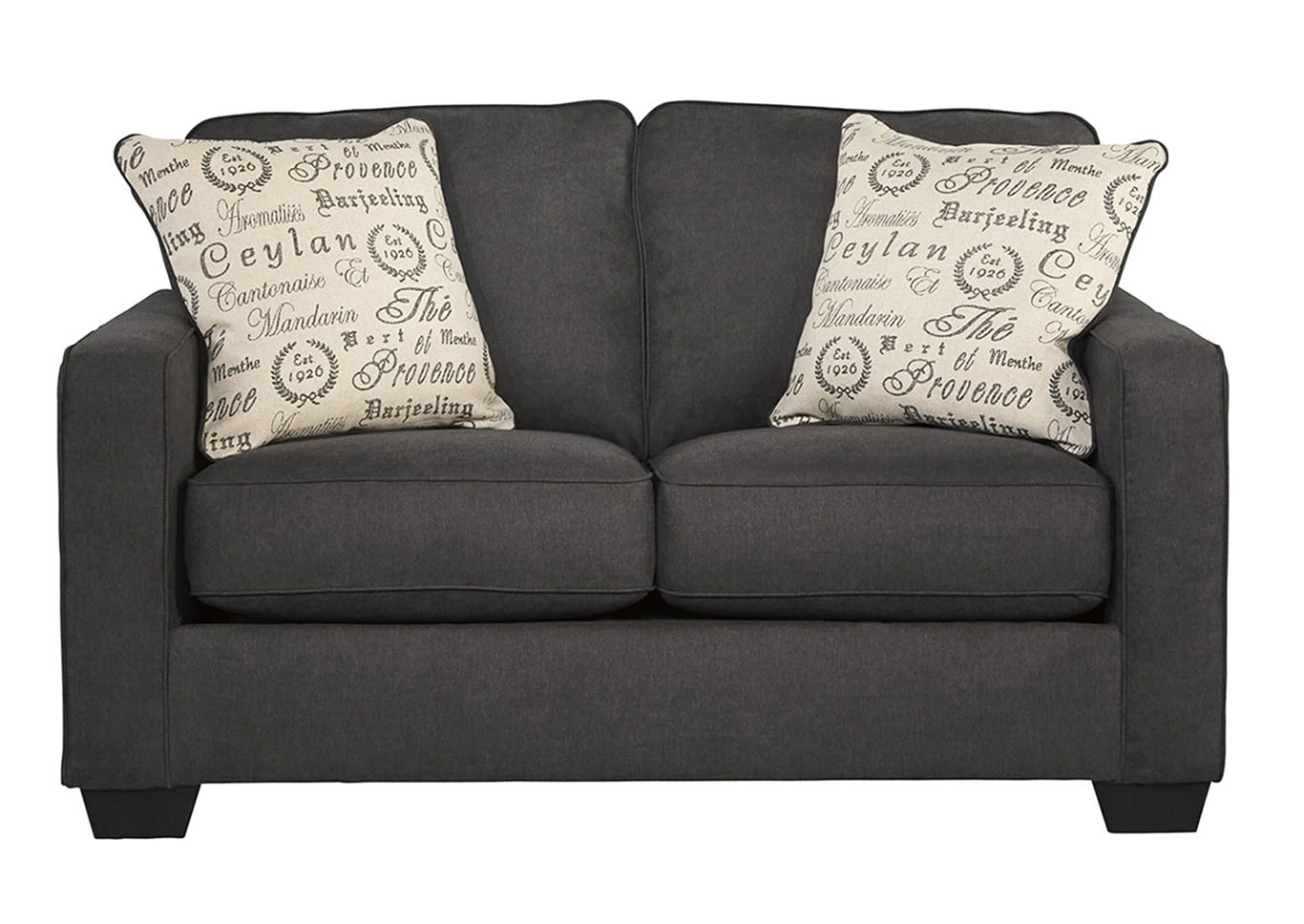 Frugal Furniture   Boston, Mattapan, Jamaica Plain, Dorchester MA Alenya  Charcoal Loveseat