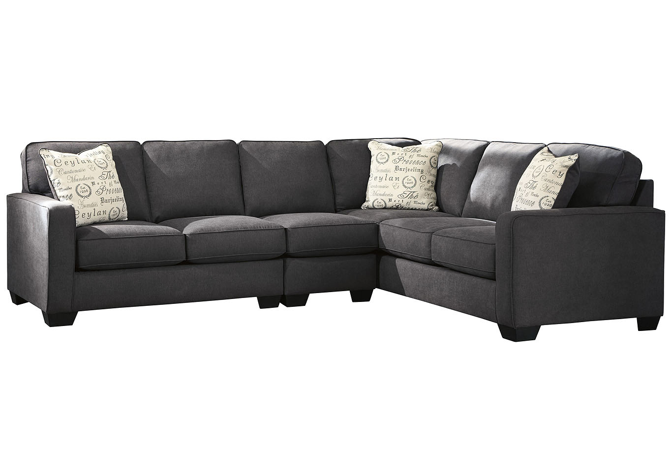 Astonishing T D Furniture Alenya Charcoal Raf Extended Sectional Gamerscity Chair Design For Home Gamerscityorg