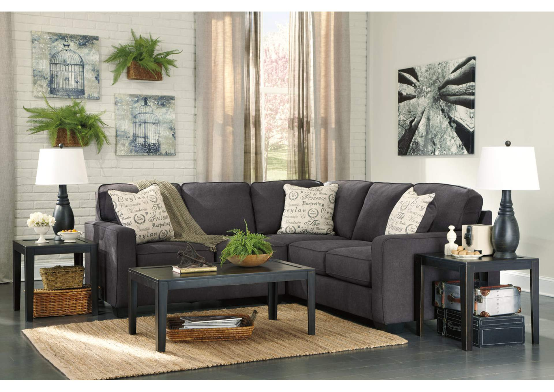 Alenya Charcoal Left Facing Sectional,Signature Design By Ashley