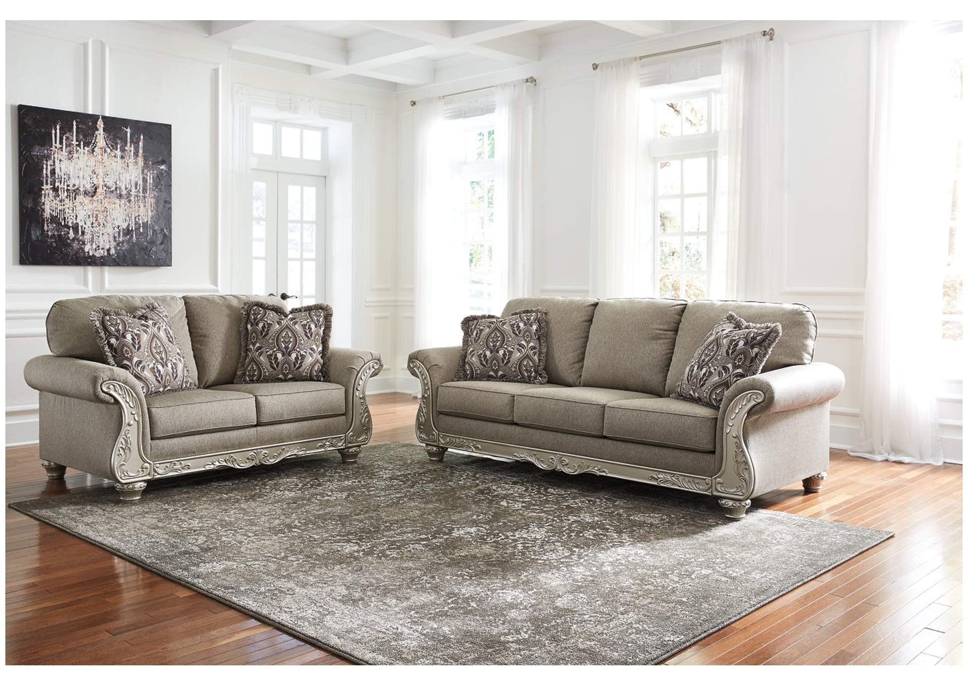 Gailian Smoke Sofa & Loveseat,Signature Design By Ashley