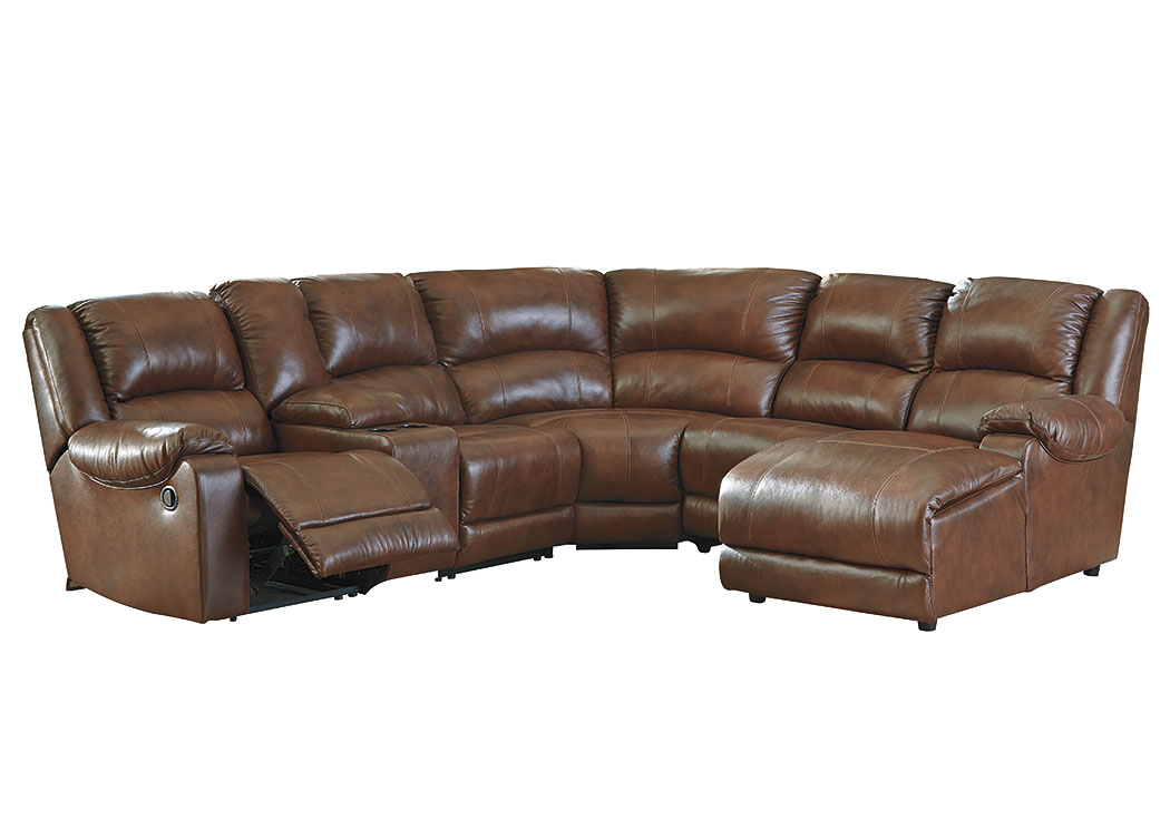 Billwedge Canyon Left Facing Zero Wall Reclining Corner Chaise Sectional w/Storage Console,Signature Design By Ashley