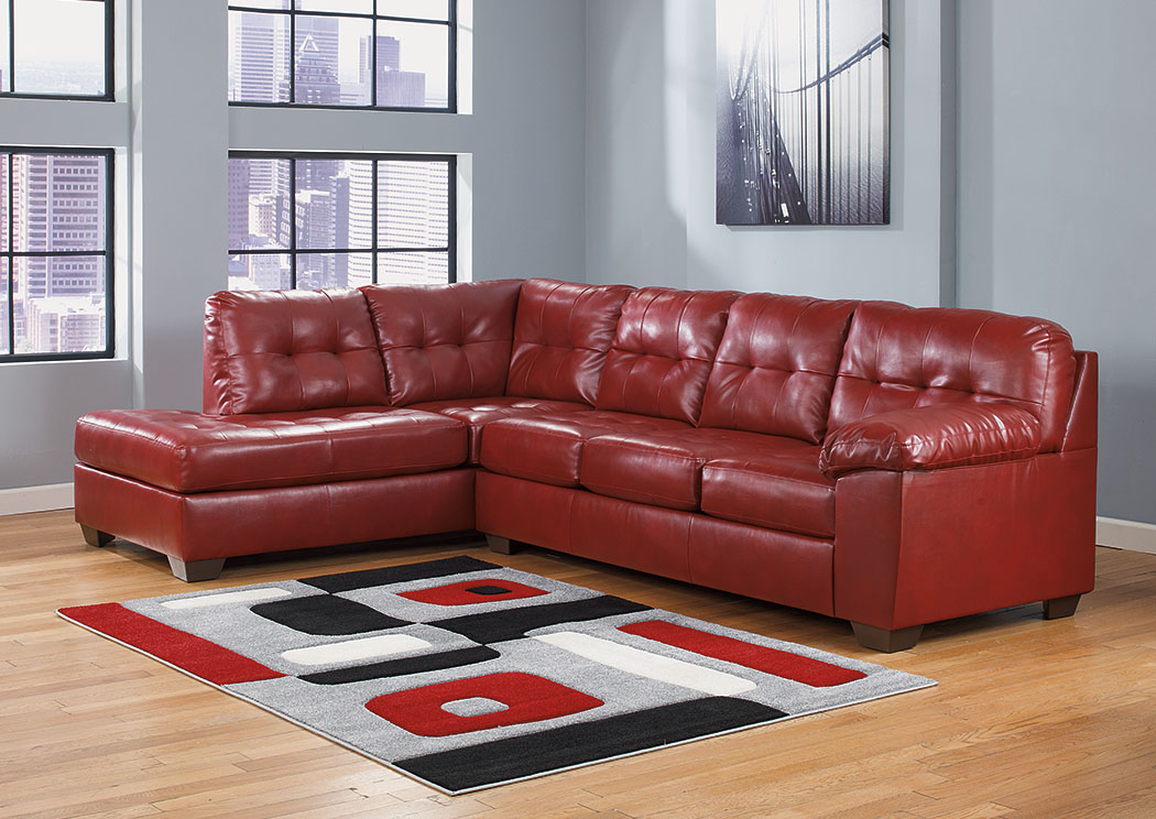Alliston DuraBlend Salsa Left Facing Chaise End Sectional,Signature Design By Ashley
