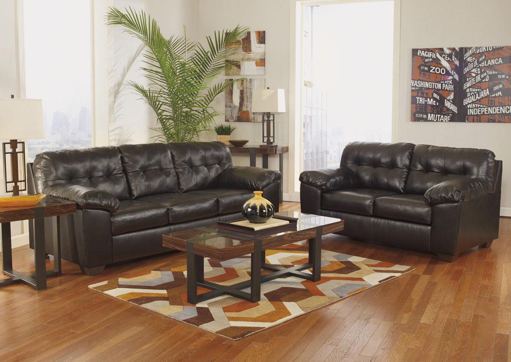 Alliston DuraBlend Chocolate Sofa U0026 Loveseat,Signature Design By Ashley