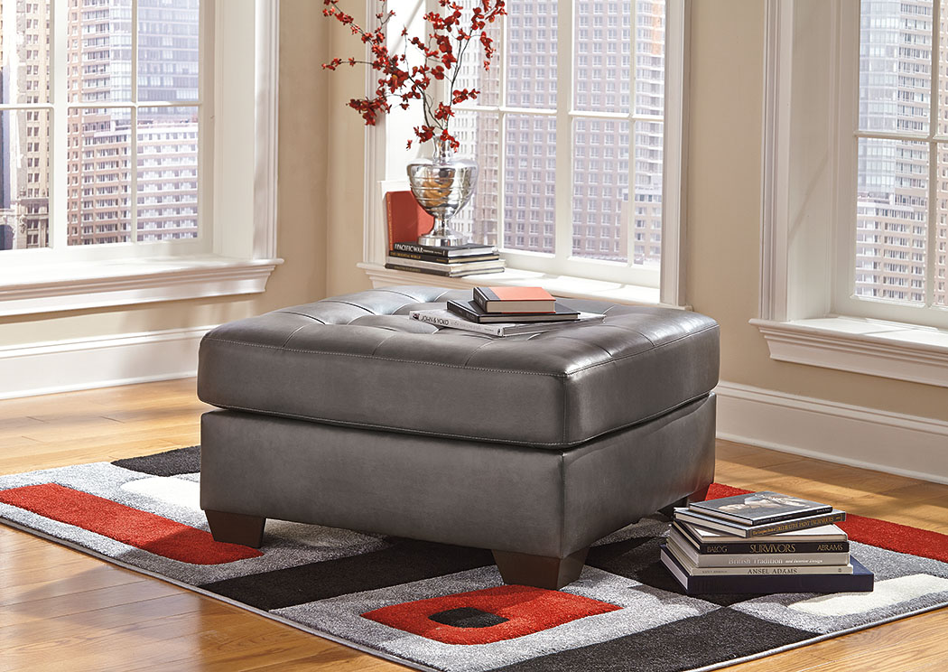 Alliston DuraBlend Gray Oversized Accent Ottoman,Signature Design By Ashley