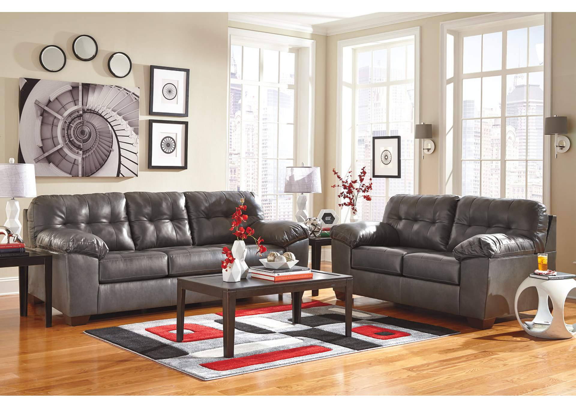 Alliston DuraBlend Gray Sofa,Signature Design By Ashley