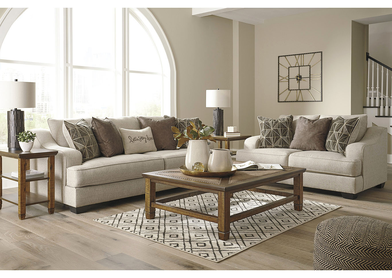 Marciana Bisque Sofa & Loveseat,Benchcraft