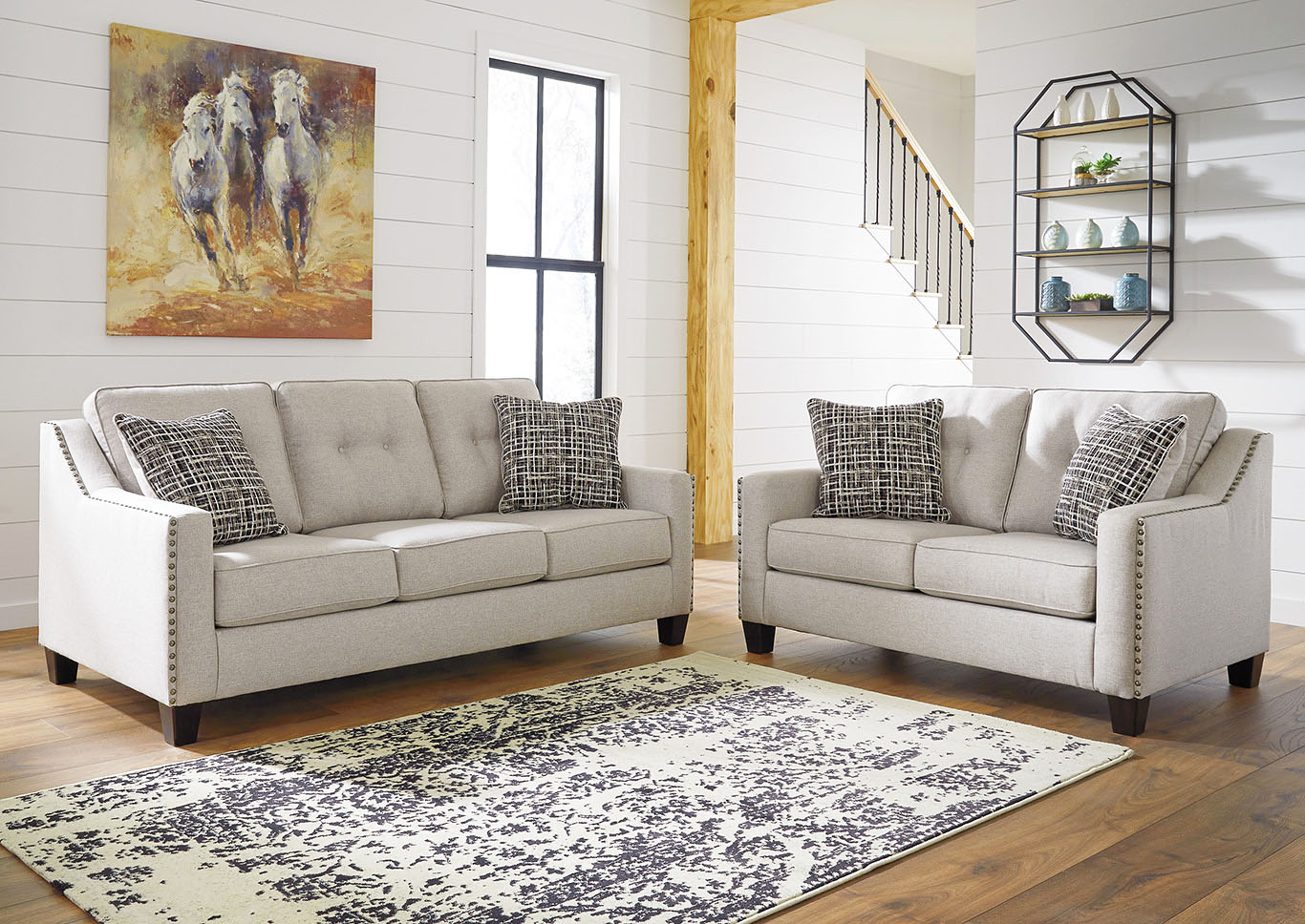 Marrero Fog Sofa & Loveseat,Signature Design By Ashley