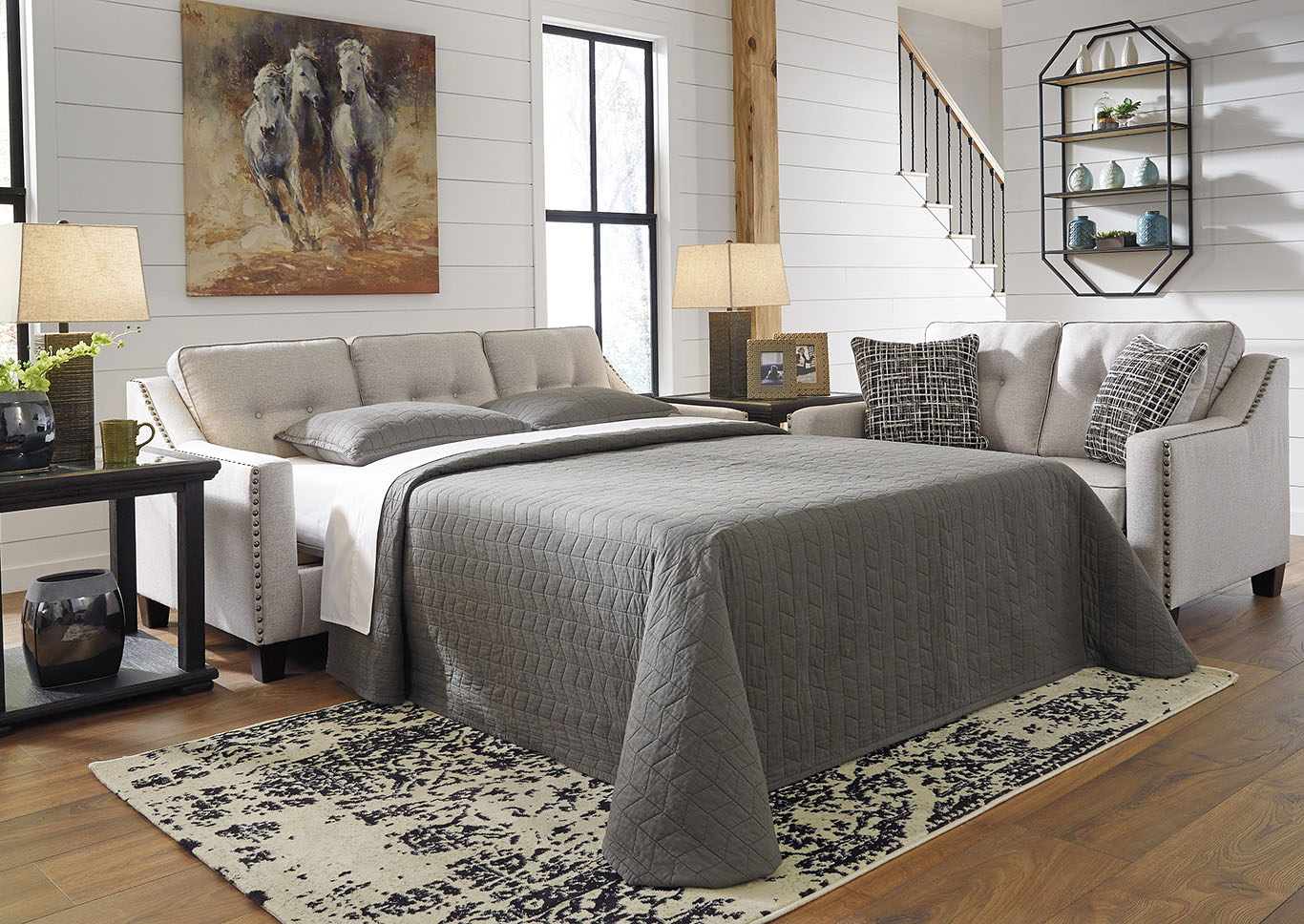 Marrero Fog Queen Sofa Sleeper,Signature Design By Ashley