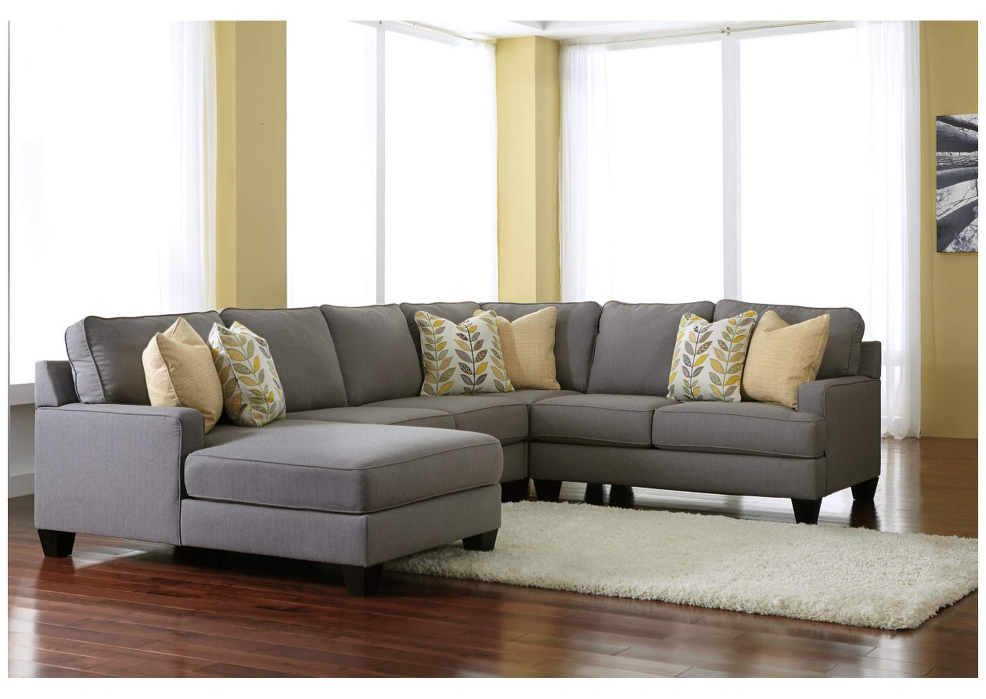 Chamberly Alloy Left Facing Chaise End Sectional,Signature Design By Ashley