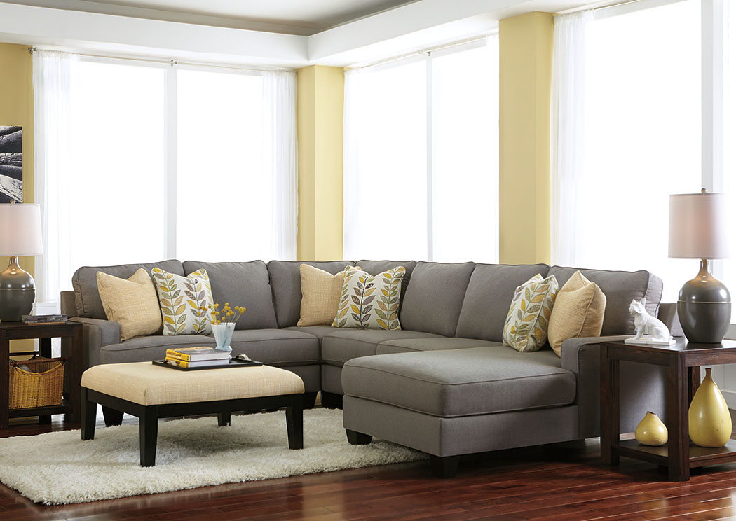 Chamberly Alloy Right Facing Chaise End Sectional,Signature Design By Ashley