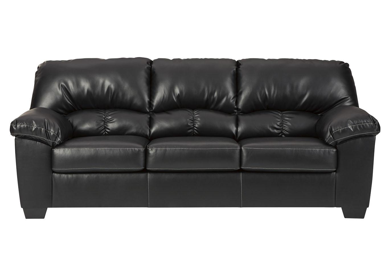 Furniture Elegance Brazoria Black Sofa
