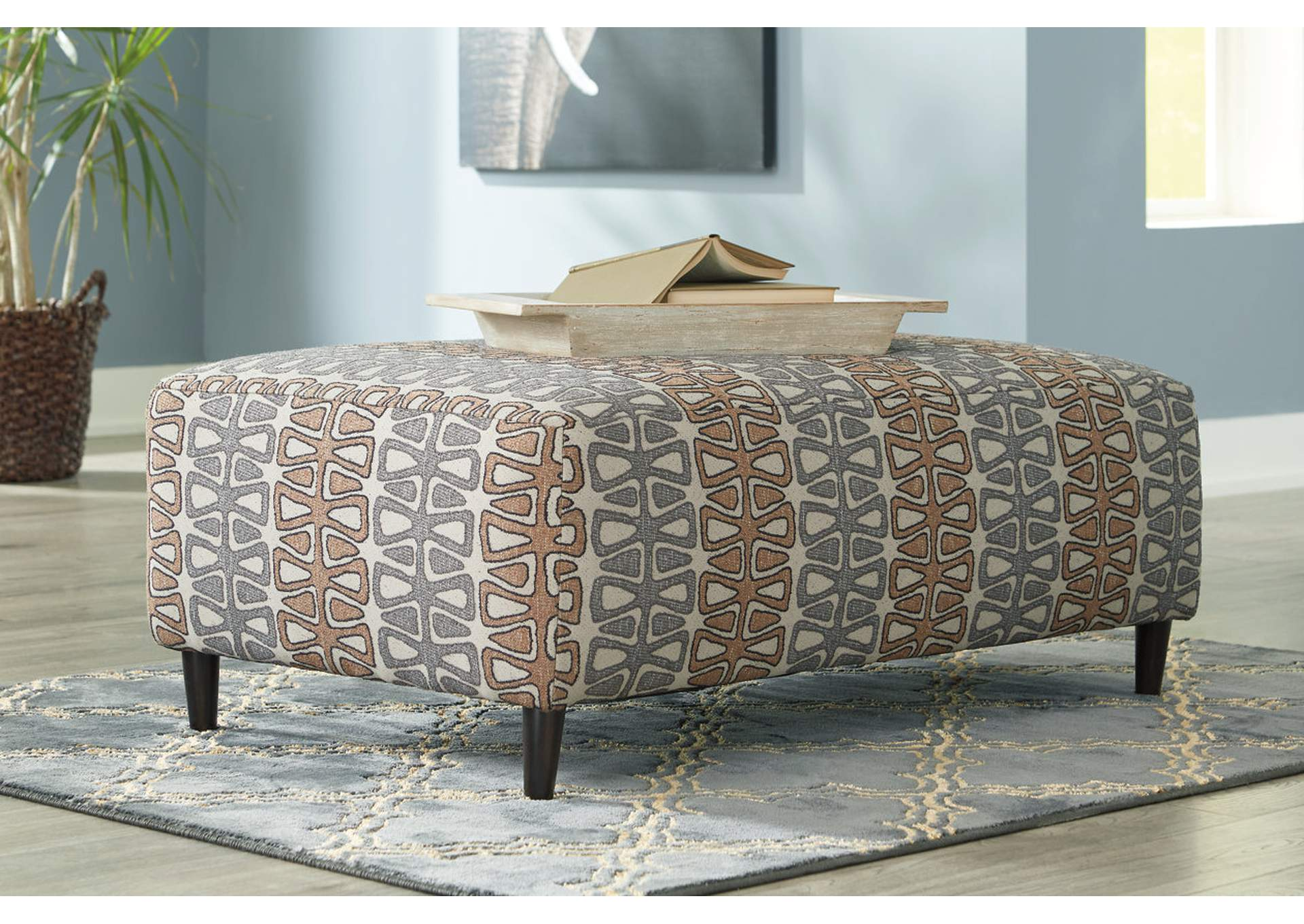 Flintshire Brown Oversized Accent Ottoman,Signature Design By Ashley