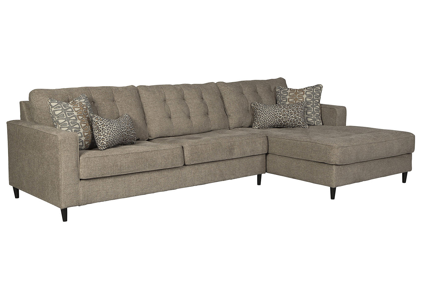 Flintshire Brown Right-Arm Facing Chaise Sectional,Signature Design By Ashley