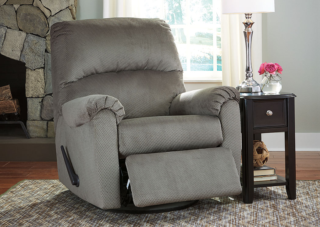 Bronwyn Alloy Swivel Glider Recliner,Signature Design By Ashley