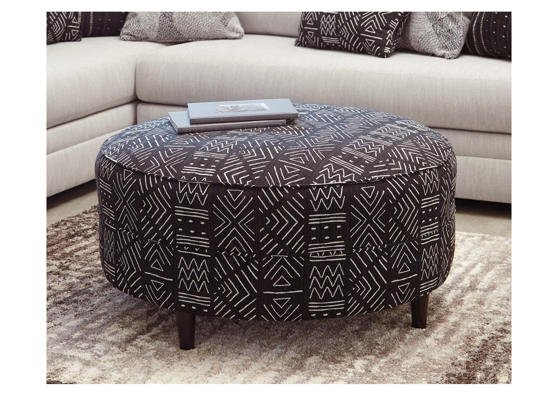 Neira Fog Oversized Ottoman,Ashley