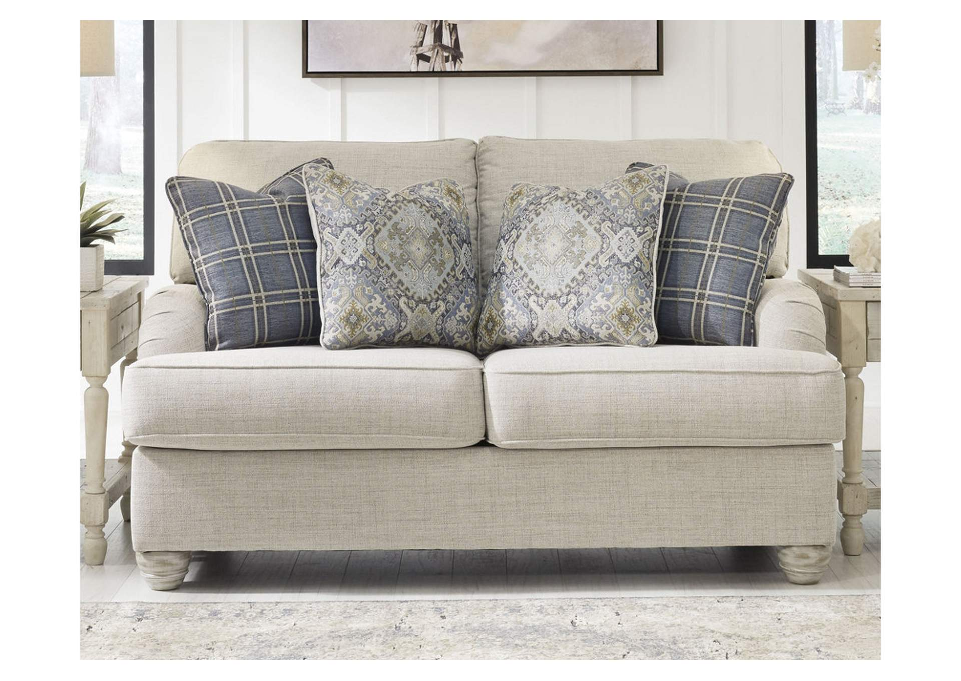 Traemore Linen Loveseat,Signature Design By Ashley