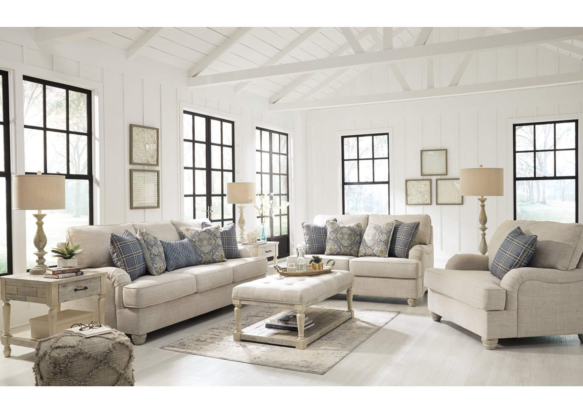 Traemore Linen Sofa and Loveseat,Signature Design By Ashley