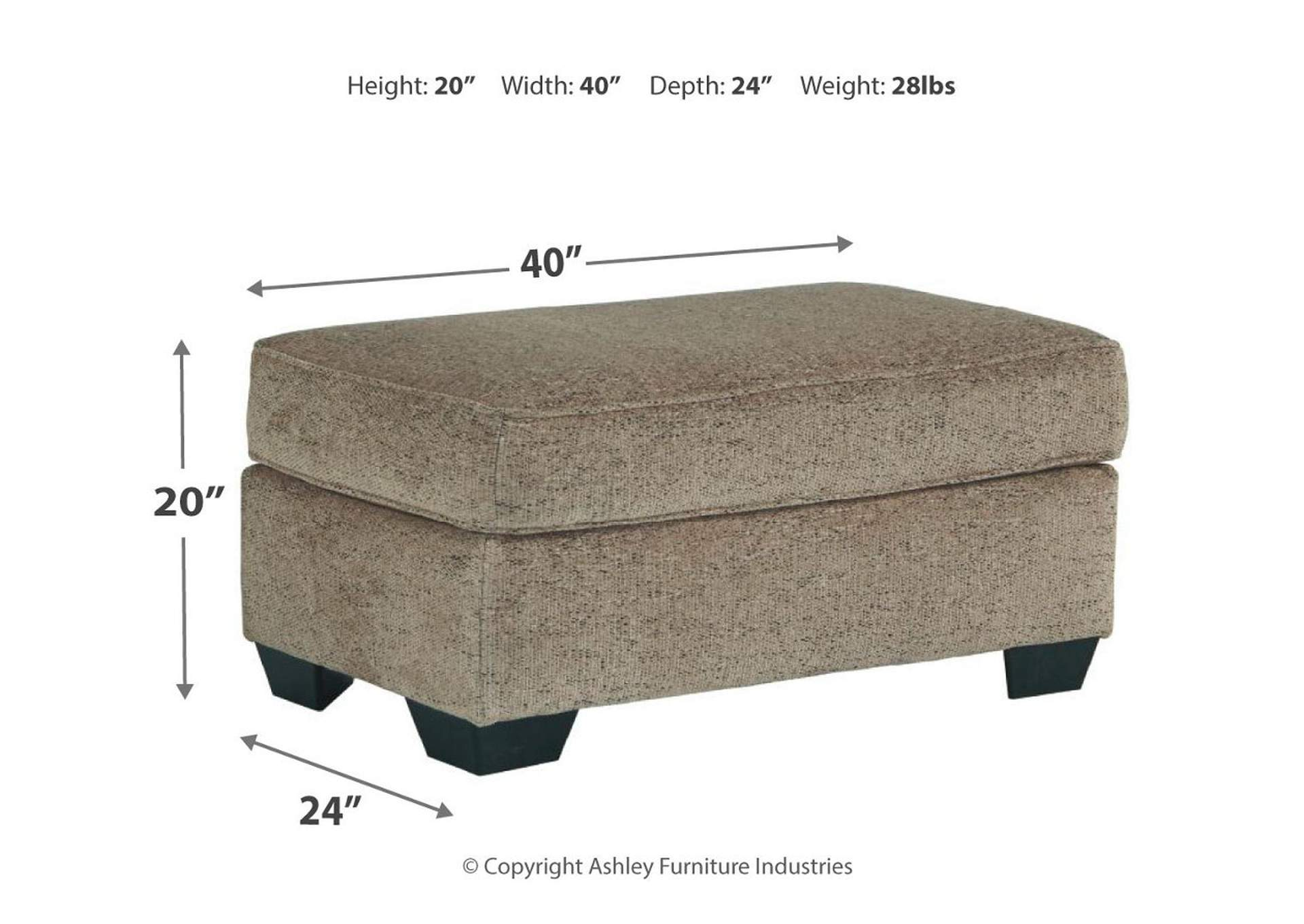 Fehmarn Toffee Ottoman,Signature Design By Ashley