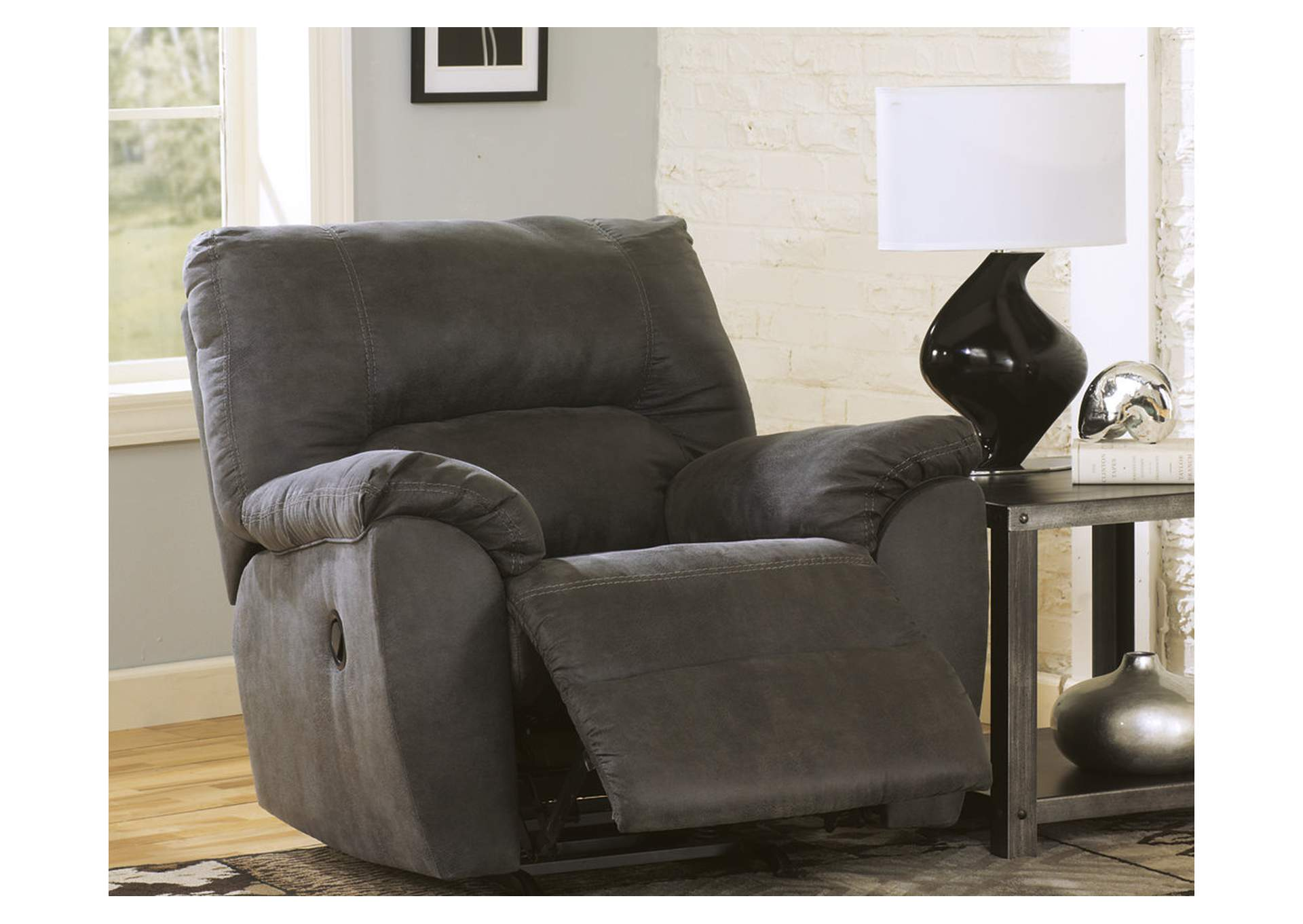 Tambo Pewter Rocker Recliner,Signature Design By Ashley