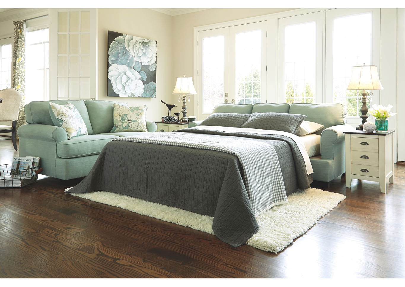 Daystar Seafoam Queen Sofa Sleeper,Signature Design By Ashley