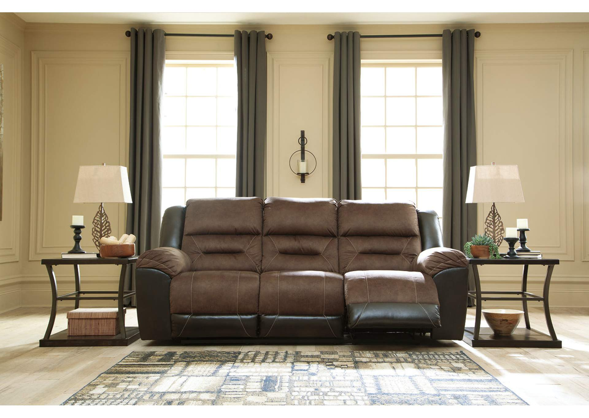 Earhart Chestnut Reclining Sofa,Signature Design By Ashley