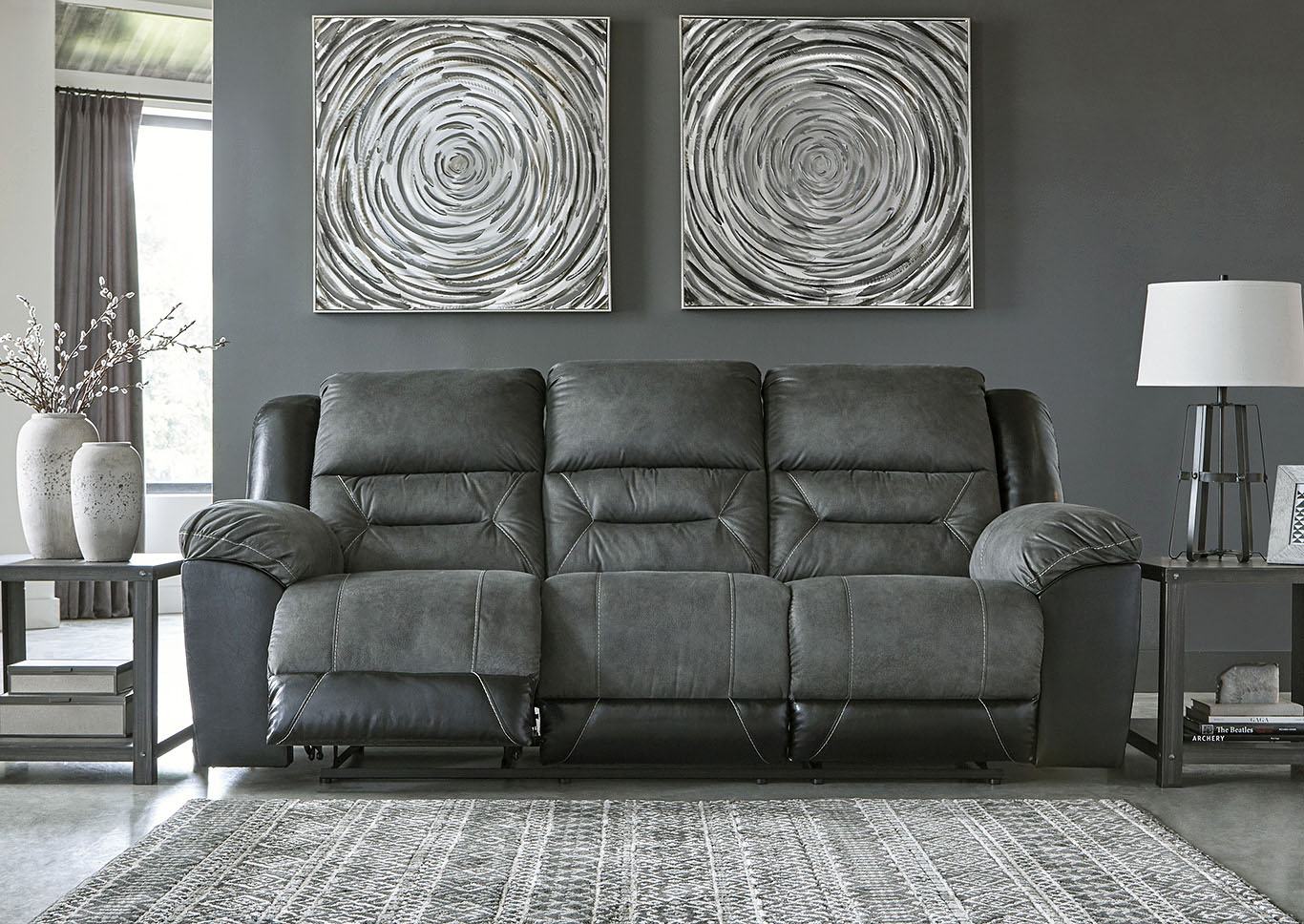 Earhart Slate Reclining Sofa,Signature Design By Ashley