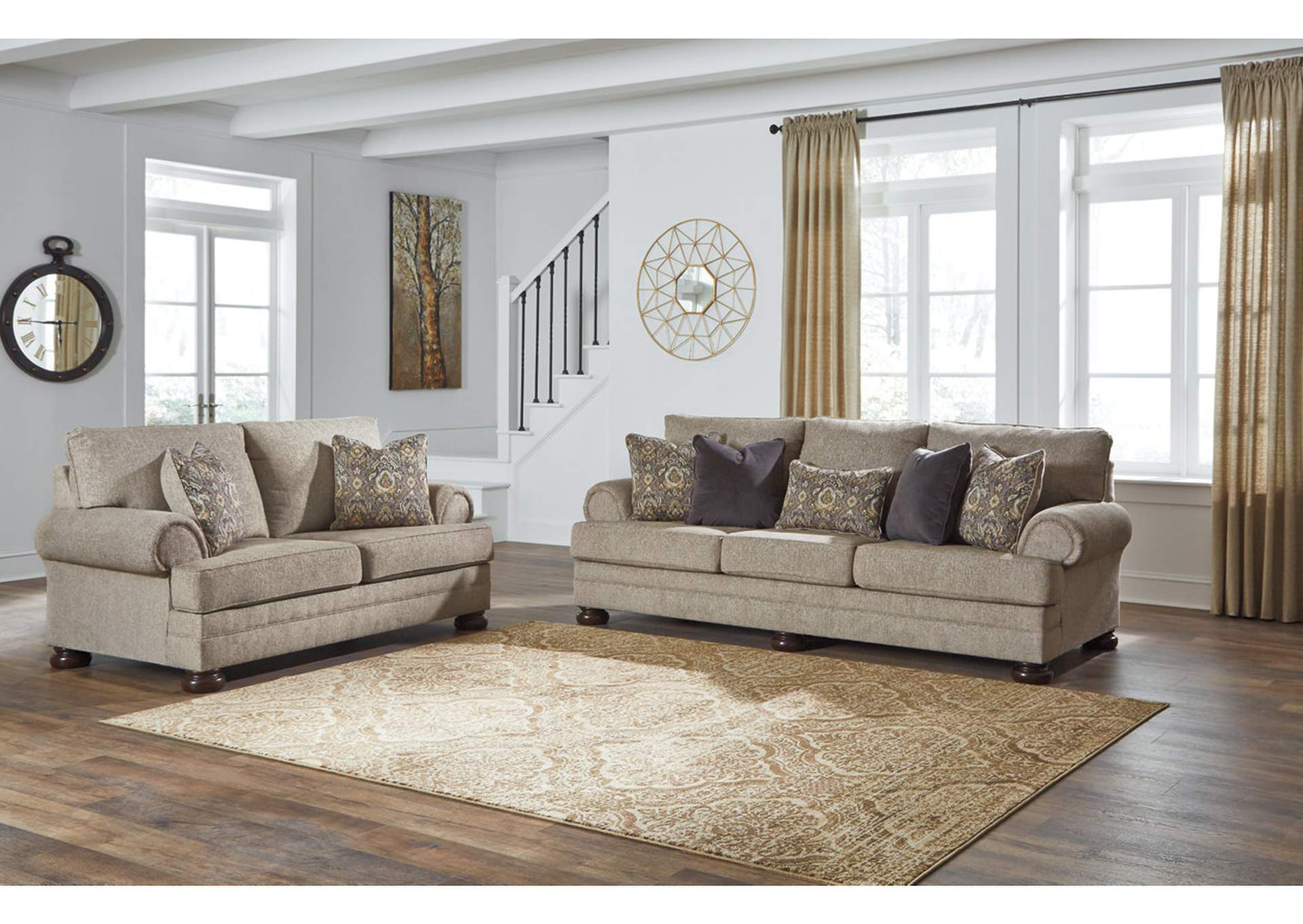 Super Premier Furniture Gallery Kananwood Oatmeal Sofa And Loveseat Pabps2019 Chair Design Images Pabps2019Com
