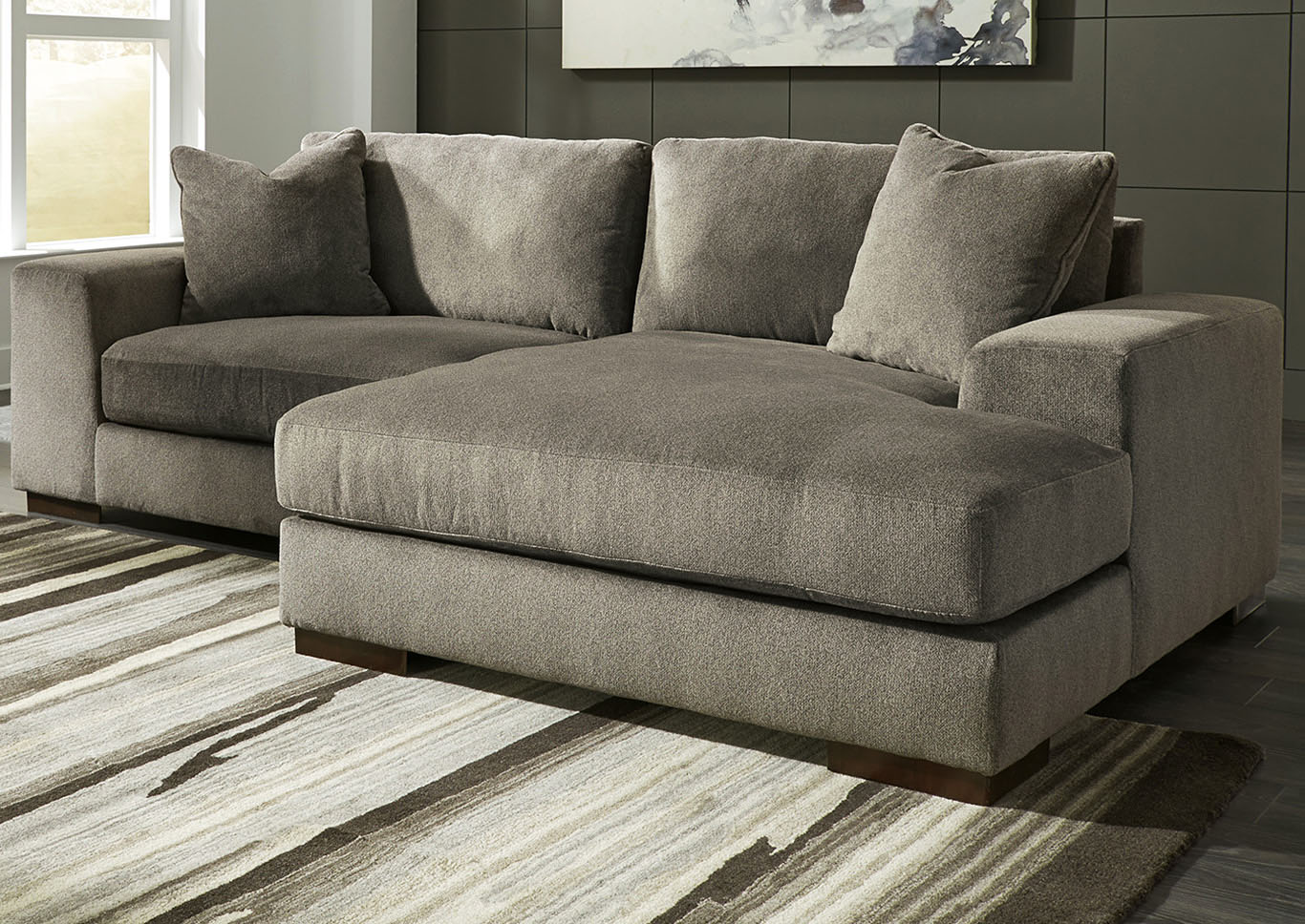 Manzani Graphite RAF Chaise Sectional,Signature Design By Ashley