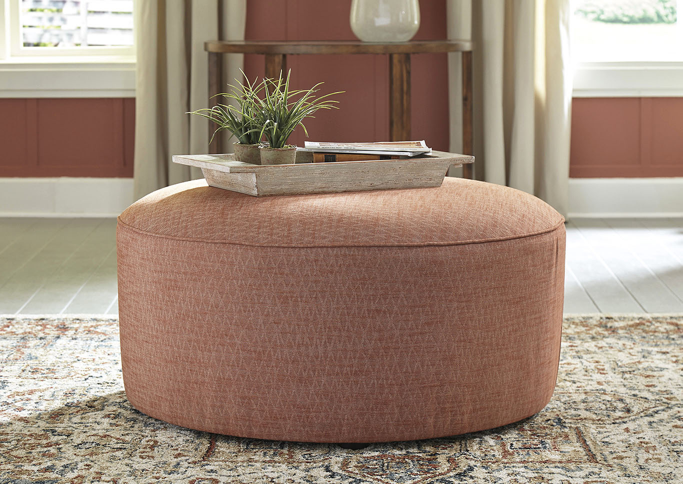 Almanza Wheat Oversized Accent Ottoman,Signature Design By Ashley