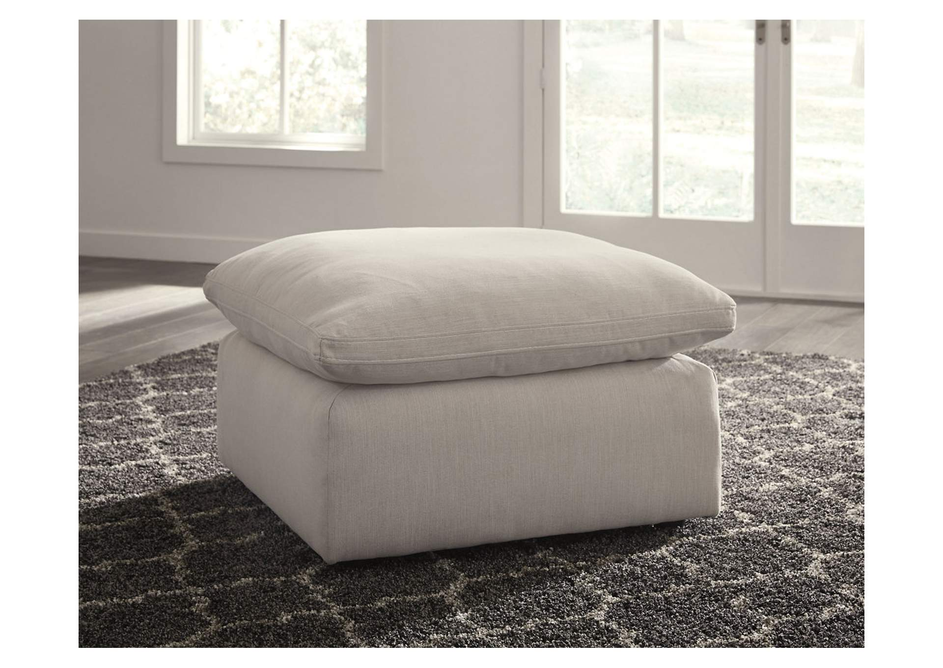 Savesto Ivory Oversized Accent Ottoman,Signature Design By Ashley