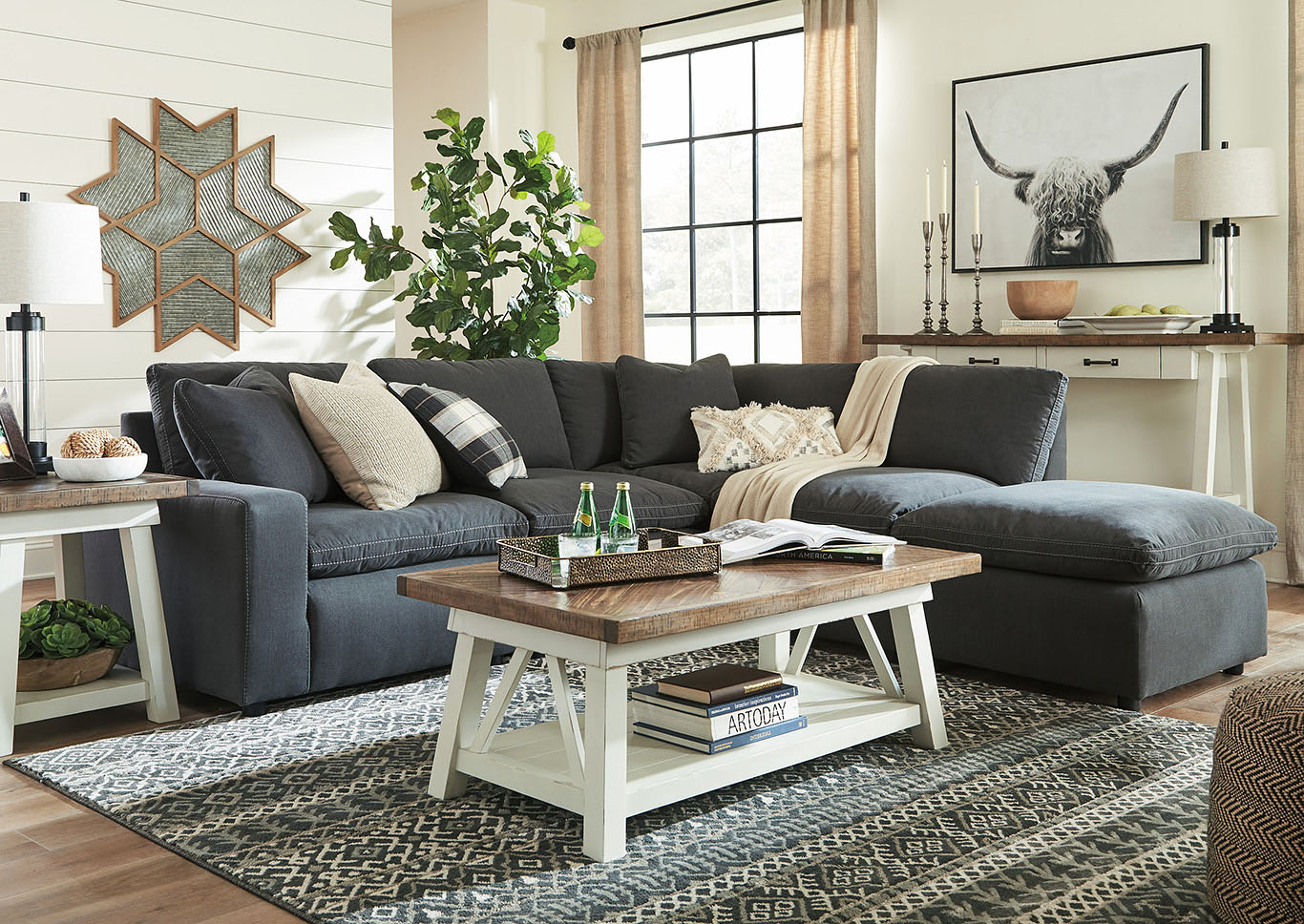 Savesto Charcoal LAF Corner Chair Sectional,Signature Design By Ashley